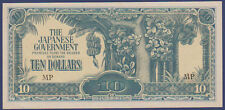 1944 JIM Japanese Invasion Money $10 Ten Dollars Malaya Borneo =UNCIRCULATED=