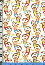 Fabric Marcus MONKEY MATES KIDS Monkeys Bananas BTHY