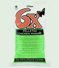 Vitax 198720 6x Odourless Pelleted Chicken Fertiliser