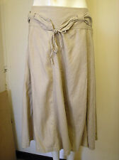 Gorgeous Beige Belted Linen Mix Skirt from Next  - Size 12 - BNWT!!