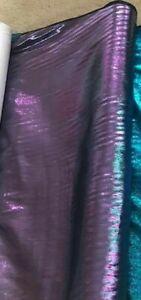 PURPLE  METALLIC and Rayon Fabric by the Yard (VERY SHINY)