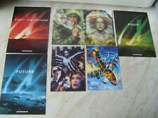 The X Files Fight the Future feature film postcards character + collector cards