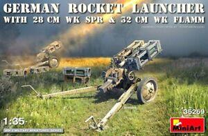 Miniart 1:35 German Rocket Launcher With 28 cm WK SPR & 32 cm WK FLAMM Model Kit