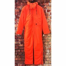 NWT 10X Men's Medium Insulated Hunting Suit Blaze Orange Hooded Coveralls IHEA
