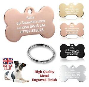 Personalised Pet Tag ID Tags Dog Identification Tags Engraved Collar Tag Bone
