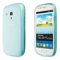 Samsung Galaxy S3 mini i8190 custodia protettiva morbida blu case cover