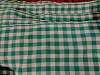 By Yard Green Check Cotton Fabric Width 45 Inches Available Uncut 10 Yards