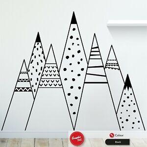 Scandinavian Mountains Wall Art Sticker Patterned Children's Nursery Vinyl Decal