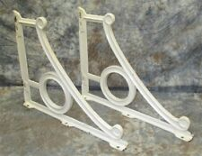 2 Porcelain Cast Iron Shelf Brackets Bathroom Sink Vintage Art Deco Bracket a