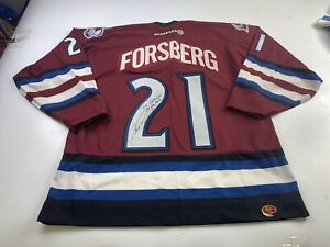 Peter Forsberg #21 Colorado Avalanche Koho Jersey Size Large Autographed Signed
