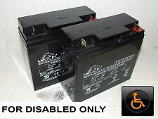 2 x LEOCH 12V 18ah (17ah) MOBILITY SCOOTER BATTERIES & WHEELCHAIR BATTERIES*