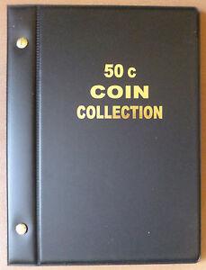 VST AUSTRALIAN 50c COIN ALBUM for 50c COLLECTION 1966 - 2019 BLACK COLOUR