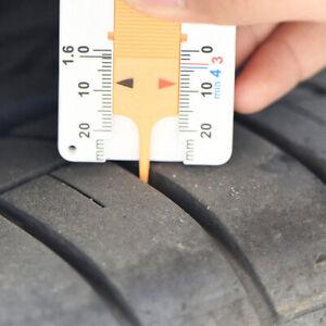 Car Tyre Tread Depth Gauge Caliper Caravan Trailer Wheel Measure Tool Accessory.