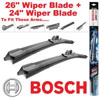 """Bosch AeroTwin Front Wiper Blades AP26U 26"""" Inch and AP24U 24"""" Inch Multi Clip"""