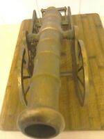 Vintage Large BRASS CANNON Ornament beautiful and ornate