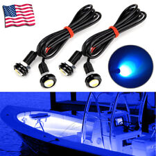 4x Blue LED Boat Light Waterproof 12v Deck Storage Kayak Bow Moomba Outback
