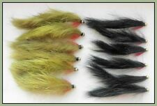 Zonker truites mouches, 12 pack gold head black & olive ZONKERS, mixte taille 8/10
