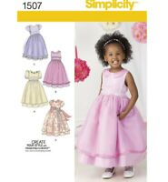 SIMPLICITY Sewing Pattern ~1507 Childs  Girls Toddlers Dressses 1/2-3 or 4-8