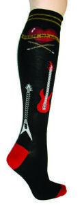 Rock & Roll Foot Traffic Women's Knee High Socks Black New Novelty Music Fashion