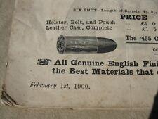 Colt Catalog 1900, Full listings on over 10 models, Extremely Rare
