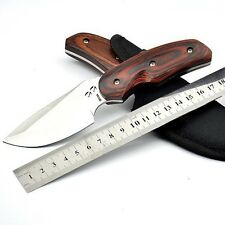 Tactical Hunting Fixed Blade Knife 440C Steel 58Hrc camping knives rescue tool