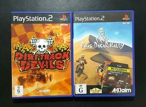 Dirt Track Devils & Paris Dakar Rally (Sony PlayStation 2) PS2 Game - FREE POST