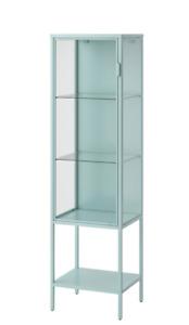 """RUDSTA Glass-door cabinet, light turquoise 16 1/2x14 5/8x61 """" NEW"""