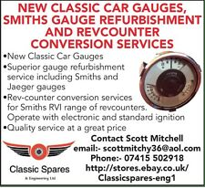 Classic car Smiths Revcounter Reconditioning Recalibration  and repair service
