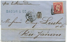 FRANCE EMPIRE, FROM BORDEAUX TO RIO JANEIRO, 1868, STAMP C80                   m