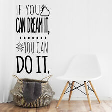 """Vinilo decorativo, pegatina frase inglés""""IF YOU CAN DREAM IT."""" DOCLIICK DC-16200"""