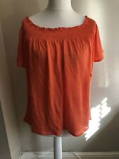 PURE COLLECTION Bardot Top Size 18 Coral BNWT