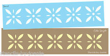 Colonial Prim STENCIL Starburst Diamond Flower Folk Art Country French Border