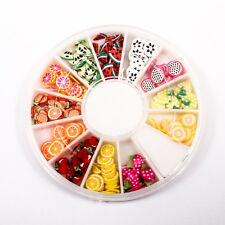 120pcs (1BOX) Fruit Wheel DIY Decor Fimo Clay Nail Tips Art Slice Craft A1715-4