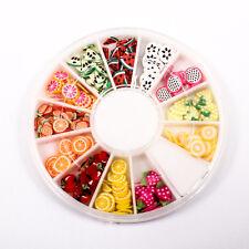 120pcs (1BOX) Fruit Wheel DIY Decor Fimo Clay Nail Tips Art Slice Craft A1715-4