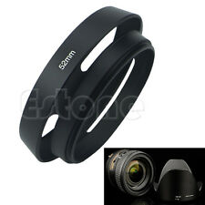 52MM Vented Curved Metal Hollow Out Cover Lens Hood For Canon Nikon Sony New