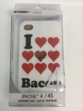 Case For Apple Iphone 4 4S I Love ❤️ Bacon White Black Red❤️