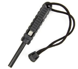 Exotac polySTRIKER XL Black Ferro Rod Fire Starter Carbide Striker