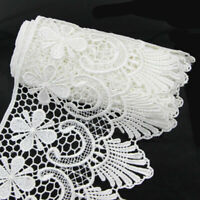 Wide Fabric Crochet Lace Trim Sewing Trimming Edge Wedding Ribbon Craft 2 Yards