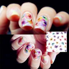 1Planche Sticker Water Decals Déco Ongle Nail Art Peinture Chinoise Fleur DS-255