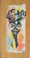 VINTAGE AFRICAN AMERICAN CHICAGO WPA ARTIST WILLIAM McBRIDE MODERN SCREENPRINT