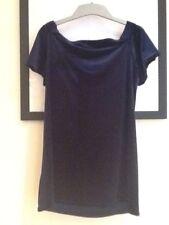 BNWT Primark Size 18. Navy Velvet Top/ Dress. On Or Off The Shoulder