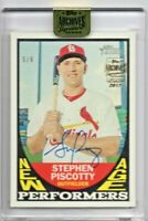 2017 Topps Archives Signature Series Stephen Piscotty AUTO #5/6 SSP