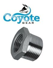"""316 Stainless 3/8"""" Male x 1/4"""" Female NPT Pipe Thread Hex Reducer Bushing SS"""