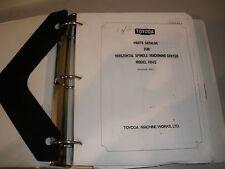 Toyoda Fh45 Cnc Mill Parts Manual