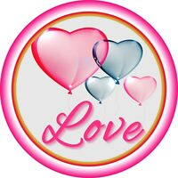Valentines Day 7 Inch Edible Image Cake / Cupcake Toppers/ Birthday/ Party 13