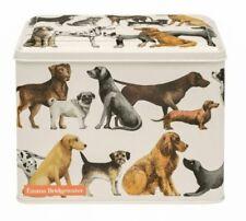 Emma Bridgewater DOG Treats TIN with HINGED LID Biscuits Storage JAR Cream 2.8L