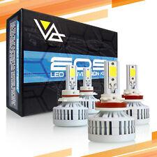 P.RA H11 9005 EOS LED Headlight Conversion Kit High Low Beam 6000K Bulbs Combo