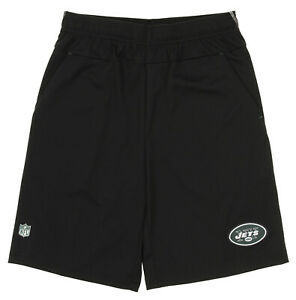 Outerstuff NFL Football Youth New York Jets Flash Shorts, Black