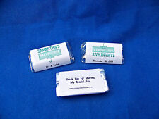 56 Personalized Baby Shower Boy Girl Miniatures Candy Wrappers Labels Stickers