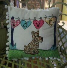 Scottie Terrier Westie Dog  Filled Cushion Decorated Applique Great Doggy Gift